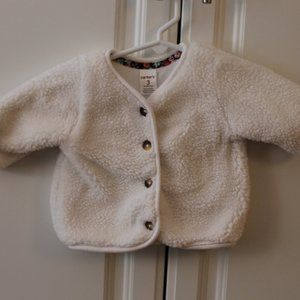 Carter's 3 month white button up jacket